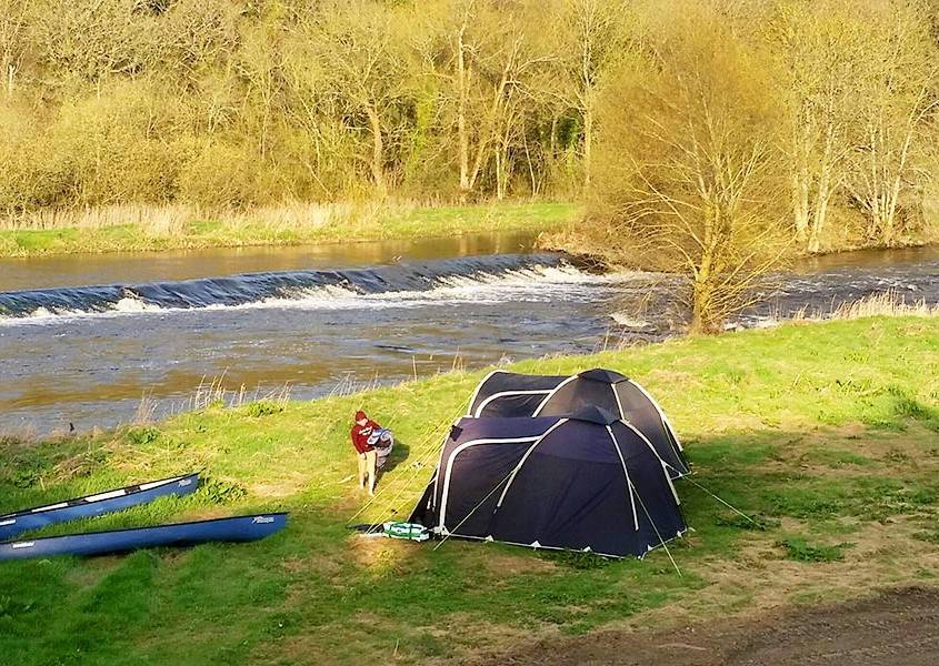 Camping by the river Barrow
